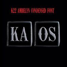 Stainless Steel KAOS 2 Piece MC Club Biker Ring Set K22 font Custom size