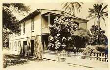 1930 ST. AUGUSTINE FL Anna G. Burt House Wolfe RPPC REAL PHOTO postcard