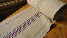 Homespun Linen Hemp/Flax Yardage 20 Yards x 18' Blue & Red #6437