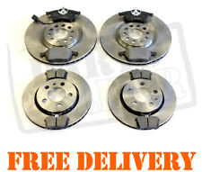 FRONT AND REAR BRAKE DISCS AND PADS FOR AUDI TT 3.2 V6 QUATTRO 9//2006