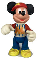 """Vintage Disney Plastic Mickey Mouse 12"""" Figurine With Jointed Arms And Legs"""