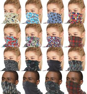 Eco Chic Reusable Adjustable Breathable Face Mask Snood Cover Filter Pocket Gift