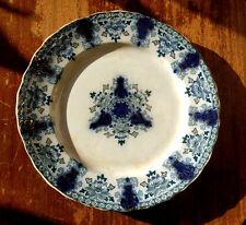 "Antique Dunn Bennett Co ""Glencoe"" Flow Blue Plate 9.25in Imperial China England"