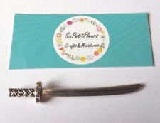 Espada De Metal Para Casa De Muñecas 1:12th escala miniatura medieval caballero castillo Tudor