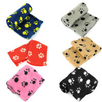 Lots Paw Print Soft Handcrafted Warm Pet Puppy Dog Cat Fleece Blanket Mat Cover