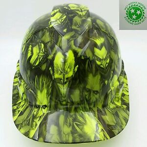 Hard Hat custom hydro dipped , OSHA approved JOKERS GONE WILD LIME GREEN