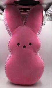 "PEEPS 17"" Pink Plush Bunny Pillow BRAND NEW RARE Easter 2021"
