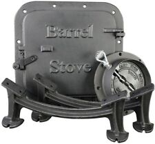 Complete Barrel Stove Kit Door Leg Steel Drum to Wood Heater Fireplace Converter