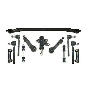 12 Pc Suspension Kit for Chevrolet GMC Idler & Pitman Arm Tie Rods Center Link