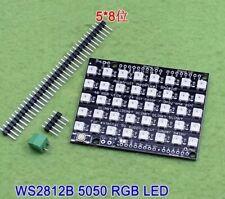8x5 40 LED 5050 RGB Dot Matrix WS2812 Full-Color Driver Module Board For Arduino