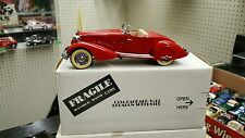 Danbury Mint 1:24 scale 1934 Packard V-12 LeBaron Speedster die cast car - RED
