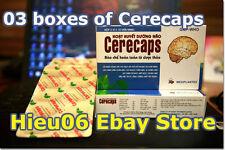 3 boxes Cerecaps blood circulation prevent stress insomnia improve memory brain
