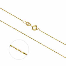 Real 375 9ct Gold Extendable Hammered Trace 20 Inch Chain Chains Necklaces
