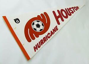 """VINTAGE NASL HOUSTON HURRICANE SOCCER PENNANT, 1978 FULL-SIZE 30"""", NEAR MINT"""