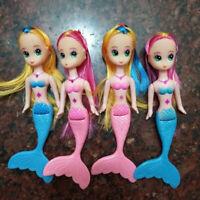 4pcs/lot Cute Mermaid Doll Little Princess Girl Dolls Accessories For Doll