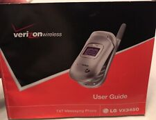Flip Phone User Guide Manual English Spanish For LG Vx3450 with Box