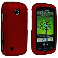 Red Snap-On Hard Case Cover for LG Cosmos Touch VN270