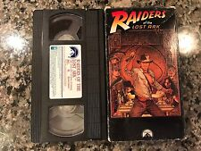 RAIDERS OF THE LOST ARK VHS! 1981 Action! The Mummy Star Wars Return Of The Jedi