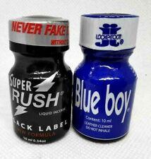 poppers rush black 10 ml et blue boy 10 ml offre duo stimulant sexshop libido fr