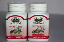 Organic Ginger 500mg 140 Veg Capsules 100% Zingiber officinales  - No Additives