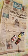 Dale Earnhardt Sr 3 Lot USA today death article and diecast vehicles newspaper