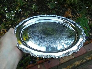 VINTAGE SILVER PLATE SERVING TRAY ONEIDA ROYAL PROVINCIAL