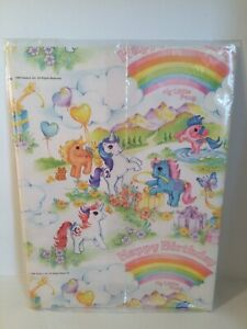 NOS 1980's Vintage My Little Pony Gift Wrap Paper Very Hard To find Birthday