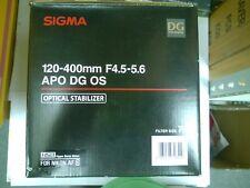 Sigma AF 120-400mm f/4.5-5.6 APO HSM DG OS Zoom Lens for Nikon AF D