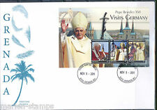 GRENADA POPE BENEDICT XVI VISITS GERMANY SHEET II  FIRST DAY COVER