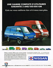 PUBLICITE ADVERTISING  1991   NISSAN   VANETTE & TRADE