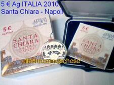 5 euro Italia 2010 Ag Fs BE PP proof SANTA CHIARA Napoli Italy Italien Италия