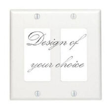 CUSTOM CHOOSE YOUR OWN DESIGN DOUBLE GFI ROCKER LIGHT SWITCH PLATE COVER