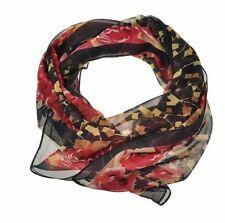 Écharpes et châles foulard rouge en mousseline pour femme
