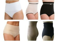 Tummy Bum Control Brief Knickers Shapewear Nude Black White