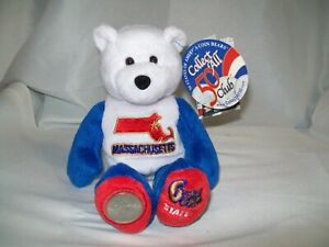 BRAND NEW WITH TAGS MASSACHUSETTES 6TH STATE LIMITED TREASURES COIN BEAR
