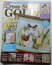 Cross Stitch GOLD magazine issue 38 cats Faberge exotic lady birds floral