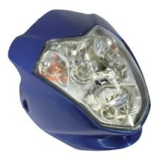 MOTORCYCLE AURA UNIVERSAL FAIRING HEADLIGHT WITH INDICATORS STREETFIGHTER BLUE