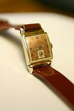 Vintage 1940's 10k Solid Gold Homis Wristwatch