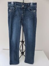 Candie's Women's Blue Denim Embroidered Pockets Jeans Size 9