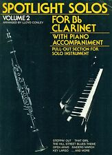 """SPOTLIGHT SOLOS"" FOR CLARINET WITH PIANO ACCOMPANIMENT VOLUME 2 MUSIC BOOK RARE"
