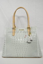 NWD Brahmin Joan Tote/Shoulder Bag in Sea Glass Tri-Texture Leather
