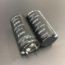3pcs 250V 680uF 250V Aishi LK 22x55mm Snap in General purpoes Capacitor