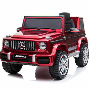 Ride On Car with Remote Control Kids Toys Licensed Mercedes-Benz MP3 Music Red