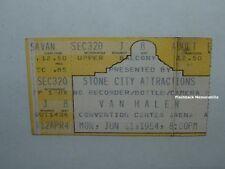 Van Halen 1984 Concert Ticket Stub Dallas / Fort Worth T.C.C.C.A. David Lee Roth