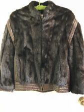 Miss O Oscar De La Renta Fur Leather Jacket Vintage