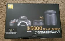 Nikon D5600 DSLR bundle Camera 18-55mm, 70-300mm Lens, USA version NEW & unused