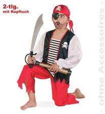Fasching Karneval Pirat mit Kopftuch Gr. 140 Piraten Kostüm NEU