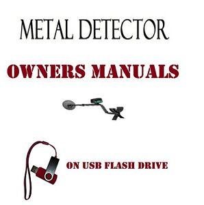 METAL DETECTOR DETECTING OWNERS INSTRUCTION USER MANUALON USB   #metaldetecting