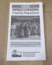 2002 Wisconsin Trapping Regulations Booklet  >
