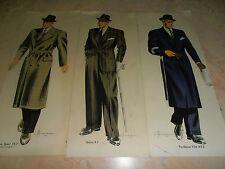mode lot de 3 planches de mode masculin / homme  ( ref 12 )